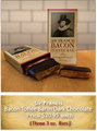 Sir Francis Bacon Toffee Bar in Dark Chocolate 3 3oz Bars