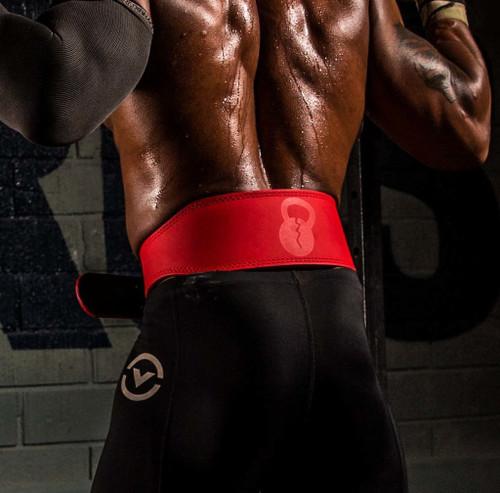 "Unbroken Designs - Matte Red 4"" Weightlifting Belt"
