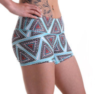 Functional Apparel Booty Shorts - Tribal Triangle Side