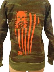 Born to WOD | Camo Skull Zip Sweatshirt - UNISEX