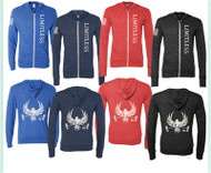 Born to WOD | Limitless Hoodie Zip - (4 colors) - Navy/Pacific Blue/Solid Black/Red