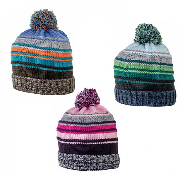 Kids Knit Striped Hat