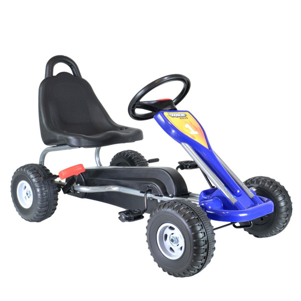 GoKart Blue - Solid Wheels 3-5 Years