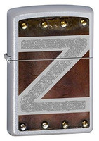 ZIPPO LEATHER AND METAL DESIGN