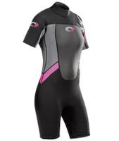 Women's Origin Pink Shorty 3/2mm Wetsuit