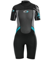 Women's Origin Blue Shorty 3/2mm Wetsuit