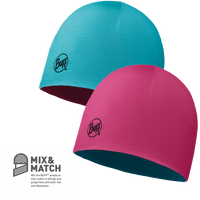 BUFF JUNIOR MERINO REVERSIBLE HAT (WILD PINK / BLUEBIRD)