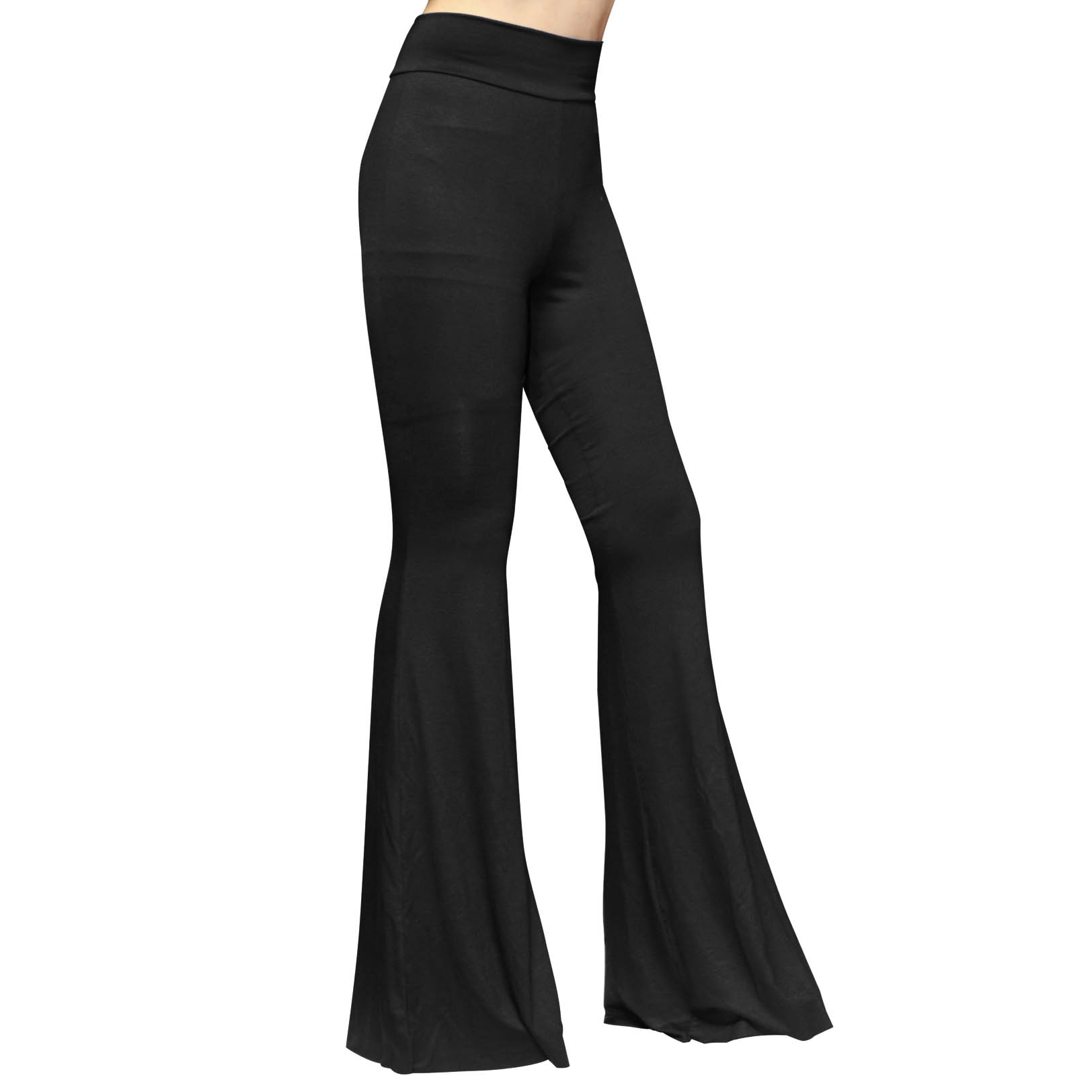 Boho Hippie High Waist Wide Leg Long Flared Bell Bottom Pants ...