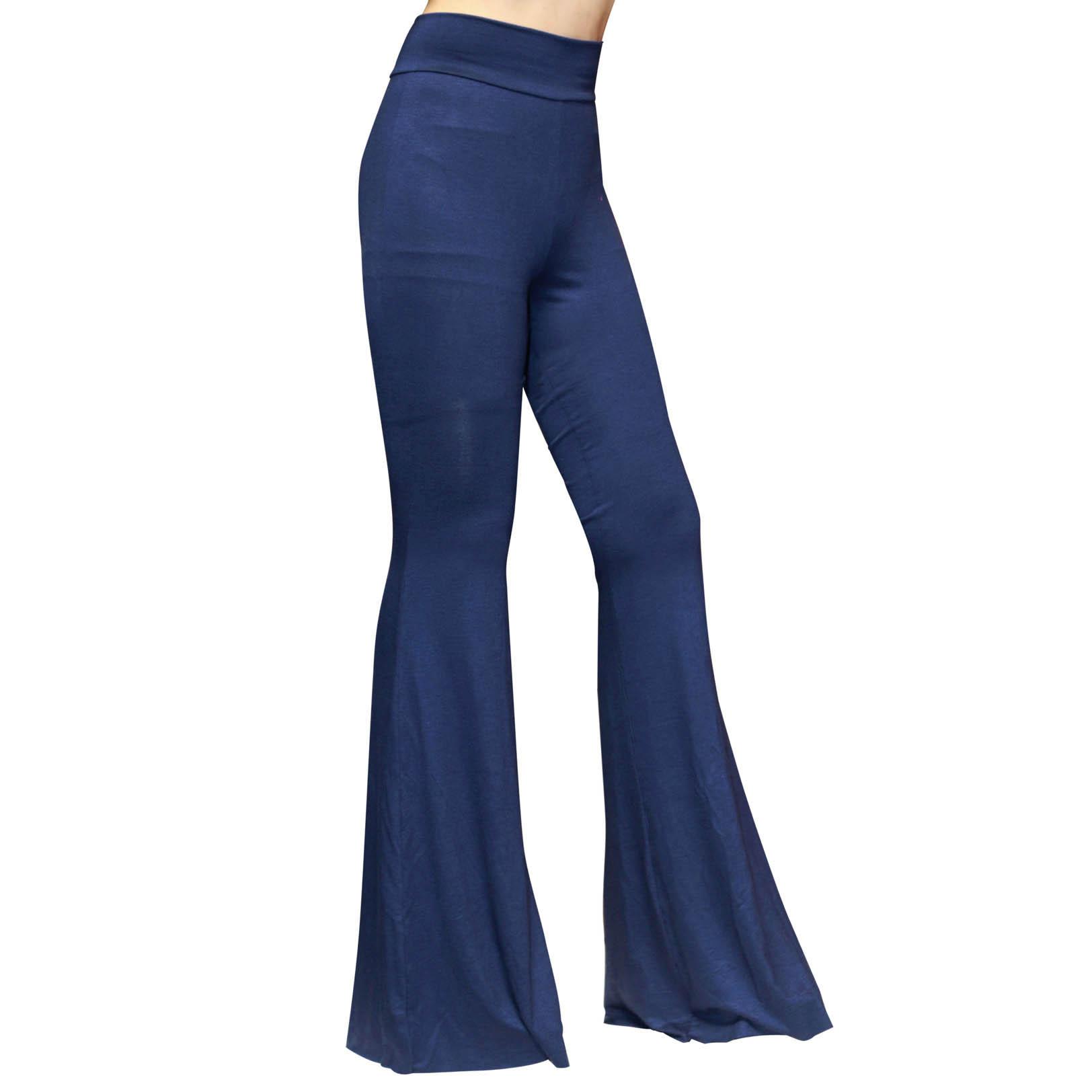 Boho Hippie High Waist Wide Leg Long Flared Bell Bottom Pants ...