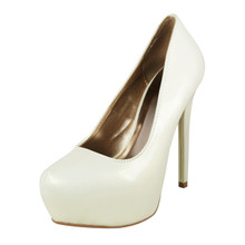 Qupid Patent Leatherette Platform High Heel