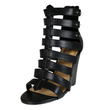 Wild Diva Leatherette Gladiator Wedge