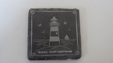 Slate Lighthouse Coaster