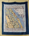 Ponce Inlet  Chart  Throw Blanket