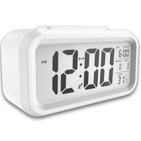 Digital Sensor Automatic Soft Light Snooze Desk Alarm Clock Date Temperature