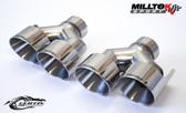 Milltek Sport Audi B8.5 S4/S5 100mm Polished Quad Tip Upgrade Kit