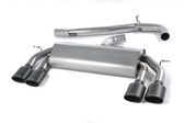 Milltek Sport VW MK7 Golf R Non-Valved, Non-Resonated, Cerakote Black Oval Tip Cat-Back Exhaust