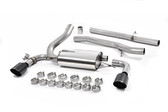 Milltek Sport Ford Focus RS Cat-Back Exhaust, Non-Resonated, Cerakote Black GT 115mm Tips