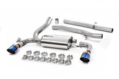 Milltek Sport Ford Focus RS Cat-Back Exhaust, Non-Resonated, Burnt Titanium GT 115mm Tips