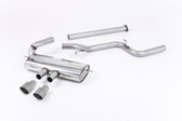 Milltek Sport Ford Focus ST MK3 Cat-Back Exhaust, Non-Resonated, Titanium Tips