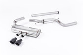 Milltek Sport Ford Focus ST MK3 Cat-Back Exhaust, Semi-Resonated, Cerakote Black Tips