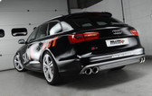 Milltek Sport Audi S6/S7 4.0T Turbo-Back Exhaust with 200 Cell HJS Catalysts, Cerakote Black 100mm Quad Tips (not legal for road use)