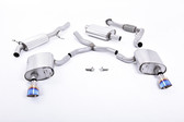Milltek Sport Audi B9 A4 2.0T Resonated Cat-Back with Dual GT-100 Burnt Titanium Tips