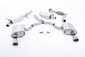 Milltek Sport Audi B9 A4 2.0T Resonated Cat-Back with Dual GT-100 Titanium Tips