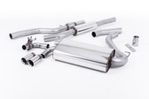 "Milltek Sport 428i ""OE Style"" Resonated Single Outlet Exhaust, Polished Tips, for Manual Transmission"