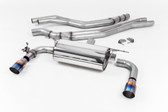 Milltek Sport BMW M240i Non-Resonated Race Cat-Back with Burnt Titanium Tips