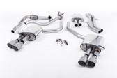 Milltek Sport Audi B9 S4 Turbo V6 Cat-Back Resonated Quad GT-100 Titanium Tips (Sport Diff Only)