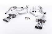 Milltek Sport Audi B9 S5 Coupe 3.0T Cat-Back Non-Resonated Quad GT-100 Titanium Tips (Sport Diff Only)