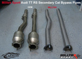 Milltek Sport Audi TT RS Secondary Cat Bypass - Can be fitted with OEM Exhaust