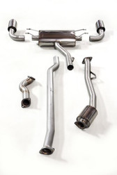 Milltek Sport Subaru BRZ & Scion FR-S Primary Cat-Back Exhaust System, Non-Resonated, Polished Tips (not legal for road use)