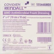 """Covidien 55544AMDX AMD ANTIMICROBIAL FOAM Dressing, 4""""x4"""" BX/10"""