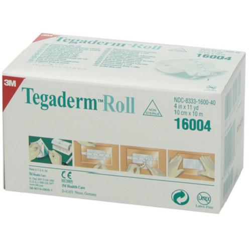 "3M Tegaderm Transparent Film Dressing Roll 4"" x 11 yards (3M-16004)"