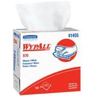"""KIMBERLY CLARK WYPALL X70 WORKHORSE REINFORCED WIPES IN POP-UP BOX, White 9.1"""" X 16.8"""" PKG/100 (CS/10) (KC 41455) (Kimberly Clark 41455)"""