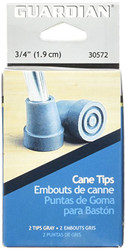 "Medline G30572-PC GUARDIAN Cane Replacement Tips, Gray,3/4"",GRAY, RETAIL BOX(Case of 8)"