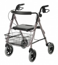 Medline G07887R GUARDIAN DELUXE ALUMINUM ROLLATOR,ROSE EA