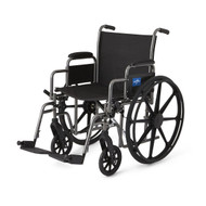 Medline MDS806400EE WHEELCHAIR,20,K1,BASIC,DLA,SA FOOTREST EA