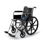 "Medline MDS806450 WHEELCHAIR,20"",DLA,ELR,300LB CAPACITY EA"