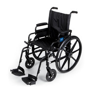 Medline MDS806560 WHEELCHAIR,K4 LIGHT,20,DLA,S/A FOOT EA