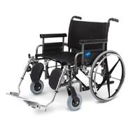 Medline MDS809650 Shuttle Extra-Wide Wheelchair