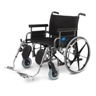 Medline MDS809650 Shuttle Extra-Wide Wheelchair
