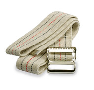 Medline MDT821203 Washable Cotton Gait Belts, Red, White and Blue Stripes