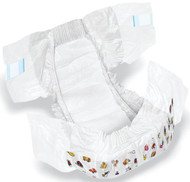 Medline MSC266044 DryTime Disposable Baby Diapers,White,CLOTHLIKE,CVR,SZ 4,22-35LB CS 160/CS
