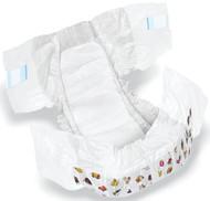 Medline MSC266045 DryTime Disposable Baby Diapers,White,CLOTHLIKE,CVR,SZ 5,30-38LB CS 144/CS