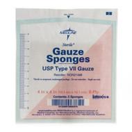 Medline NON21448 GAUZE,SPONGE,4X4,8-PLY,Sterile,LF,2/PK CS 1200/CS