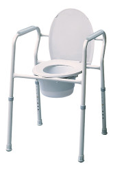 Lumex Commode Stationary 3-in 1 Silver Collection (7103A-4)