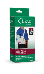 Medline ORT11400SD Curad Arm Sling with Pediatric Print and Shoulder Pad, Child (Pack of 4)