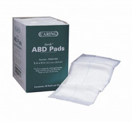 Medline PRM21450 ABDOMINAL PAD,CARING,5X9,ST,LF,25/BX CS 400/CS